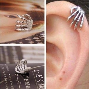 Single Skeleton Hand Ear Cartilage Cuff